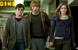 Harry, Ron, and Hermione's response to the film, This is the End.
