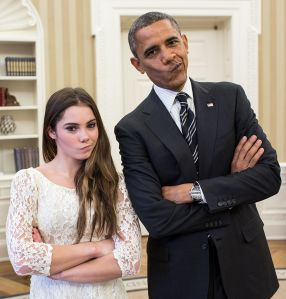 The POTUS and Ms. Maroney are not impressed with your pitch.