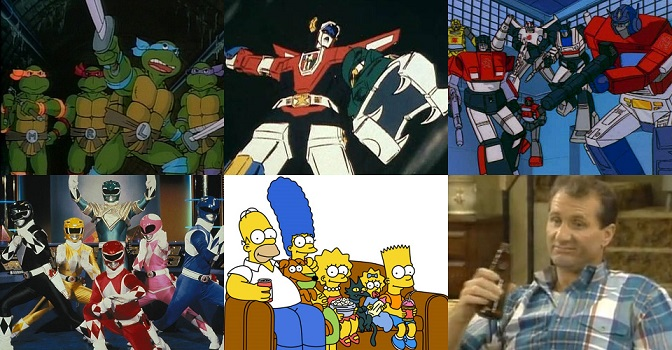 Old School TV Influences, TMNT, Voltron, Transformers, Power Rangers, The Simpsons, Married with Children
