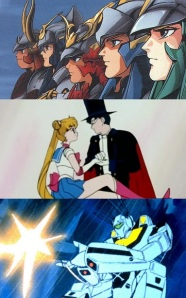 Ronin Warriors, Sailor Moon, Robotech