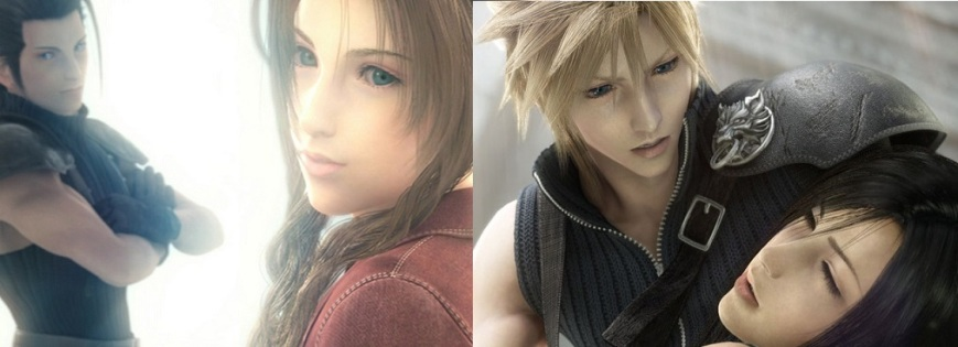 Final Fantasy Advent Children Zack Fair Aeris Gainsborough Cloud Strife Tifa Lockheart