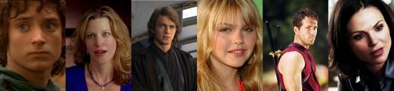 Frodo Skyler Anakin Julie Deadpool Regina