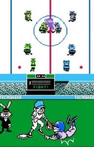 Ice Hockey and Bad News Baseball NES