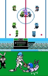 Ice Hockey and Bad News Baseball NES