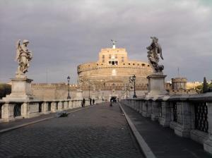 Across the bridge from Castel Sant'Angelo