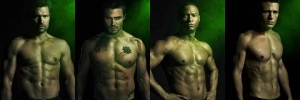 Pointlessly Shirtless Men of Arrow: Slade Wilson, Oliver Queen, John Diggle, and Roy Harper
