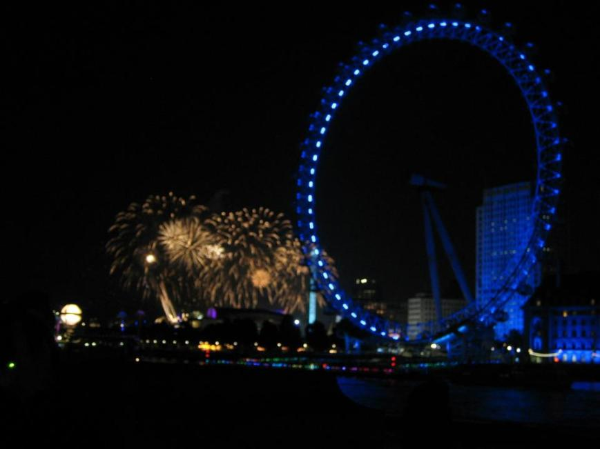 London Eye and Fireworks