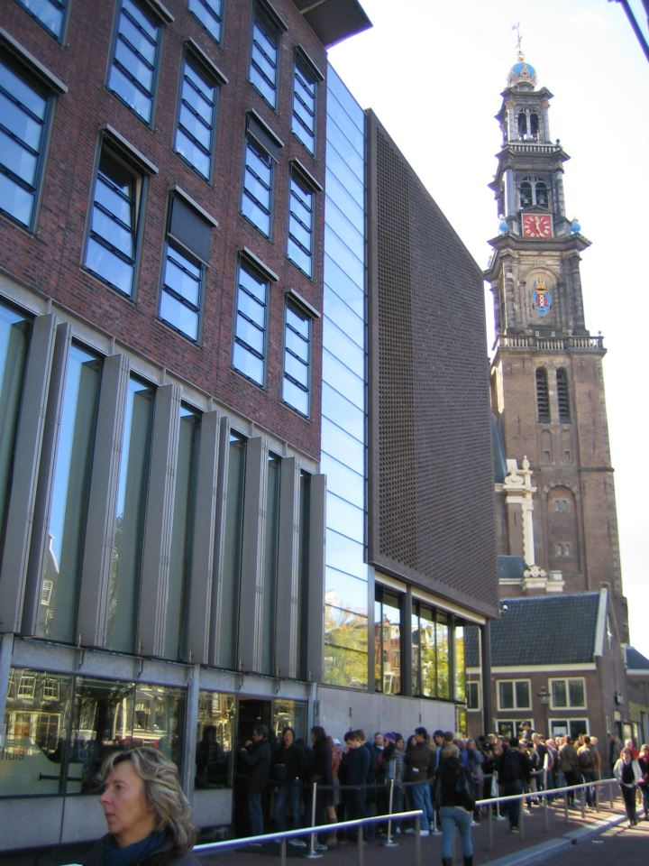 Line for the Anne Frank House. The wait was pretty long.