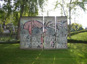 Piece of Berlin Wall at the ECHR in Strasbourg