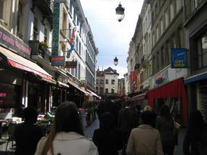 Street in Brussels.