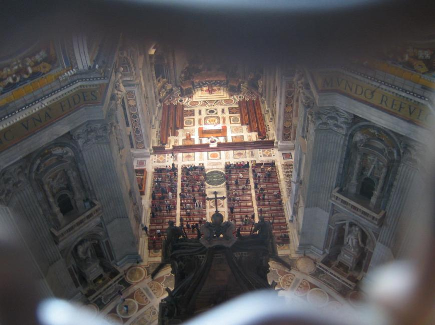 Under the Dome of St. Peter's Basilica