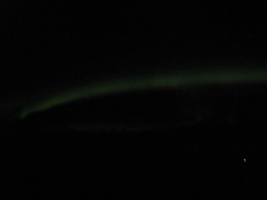 Crappy Photo of the Northern Lights in Iceland