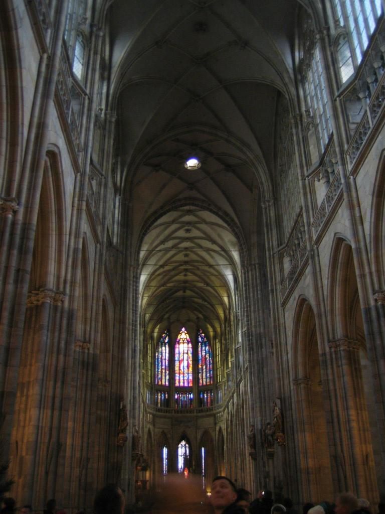St. Vitus Cathedral's interior.