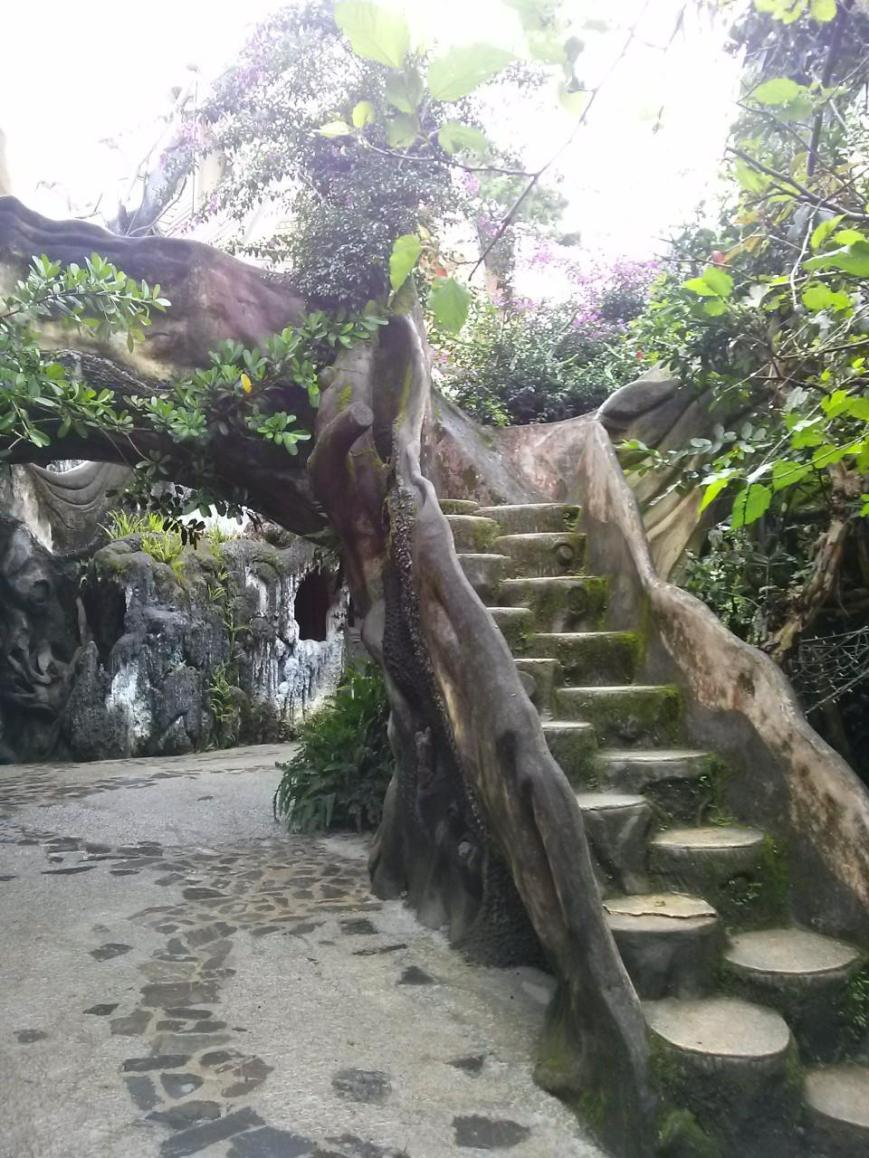 One of many stairs at the Crazy House.