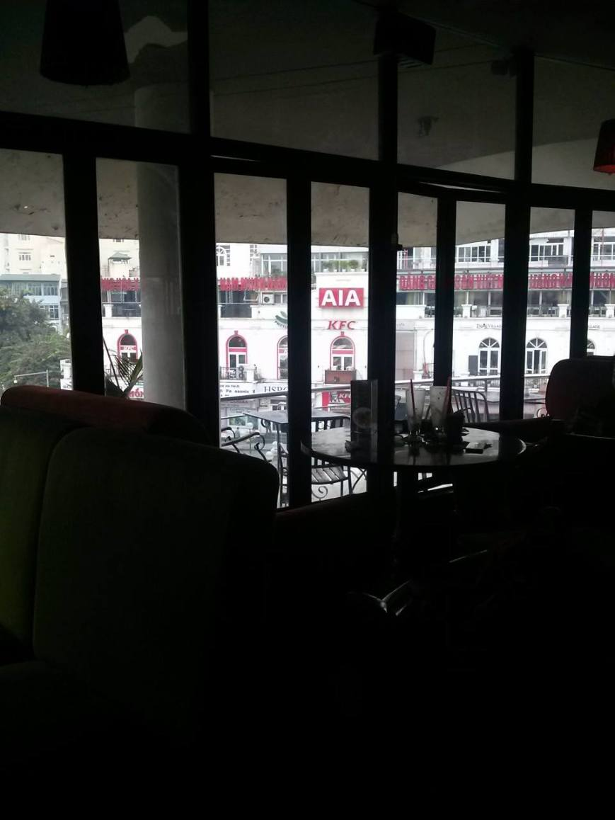 The cafe I wrote in had a nice view of, you guessed it, the KFC.