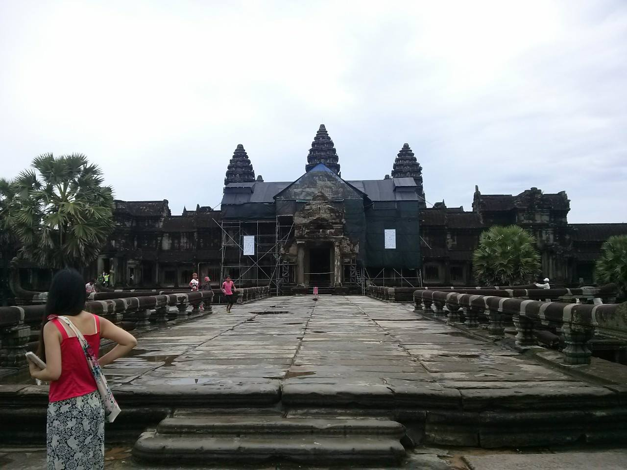 Angkor Wat Undergoing Maintenance